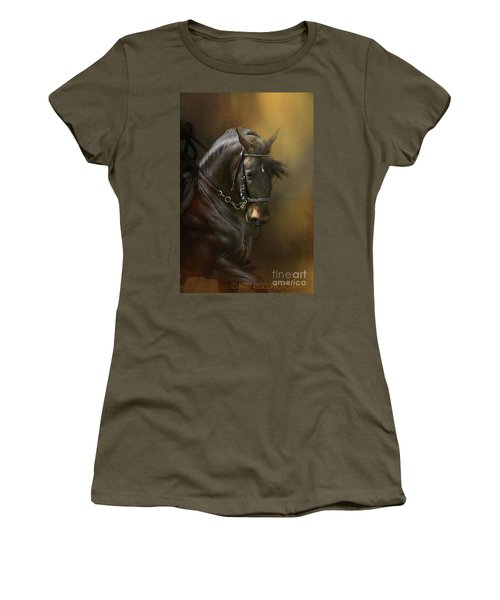 Desparate' In Gold Women's T-Shirt (Junior Cut) by Kathy Russell