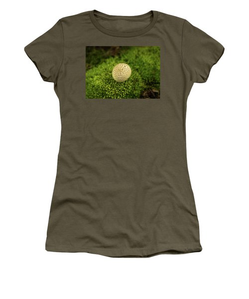 Developing Mushroom On A Bed Of Moss Women's T-Shirt (Athletic Fit)