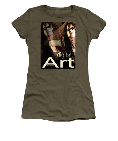 Digital Art Poster Women's T-Shirt (Athletic Fit)