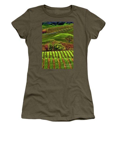 Enhanced Stunning Napa Valley Vineyards Vibrant  Women's T-Shirt