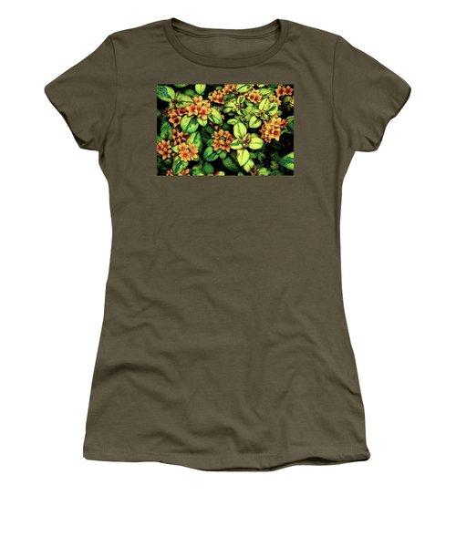 Digital Painting Quilted Garden Flowers 2563 Dp_2 Women's T-Shirt
