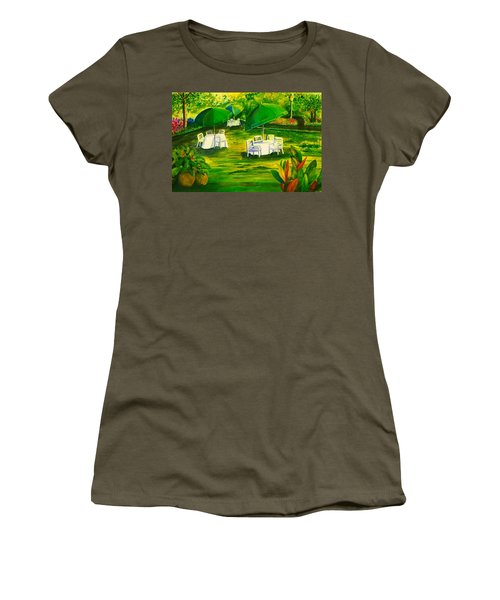 Dining In The Park Women's T-Shirt (Athletic Fit)