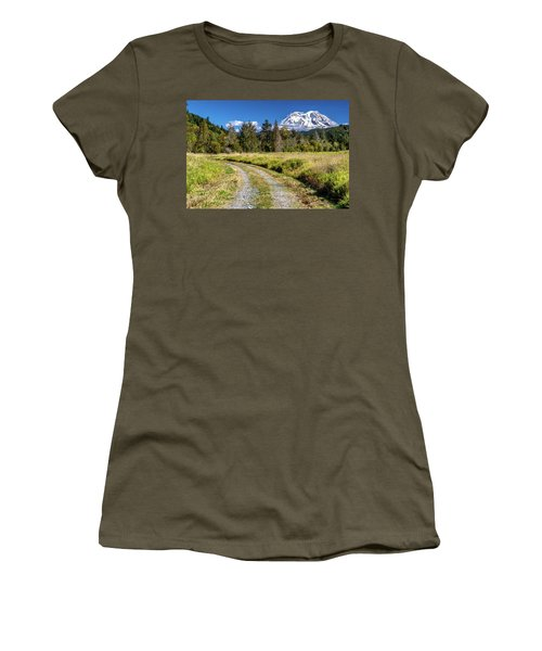 Dirt Road To Mt Rainier Women's T-Shirt