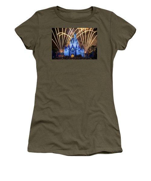 Disney World Women's T-Shirt (Junior Cut) by Anna Rumiantseva
