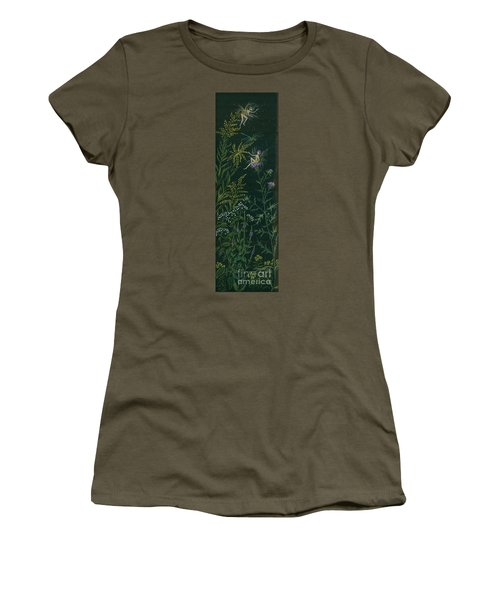 Women's T-Shirt (Junior Cut) featuring the drawing Ditchweed Fairies Goldenrod And Thistle by Dawn Fairies