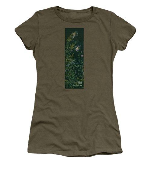 Ditchweed Fairies Goldenrod And Thistle Women's T-Shirt (Junior Cut) by Dawn Fairies