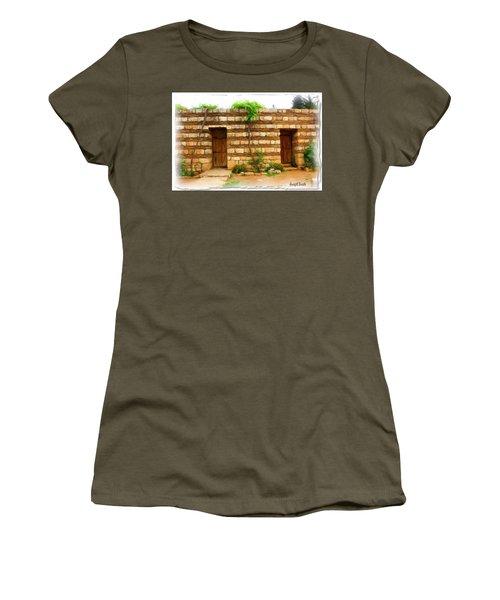 Women's T-Shirt (Junior Cut) featuring the photograph Do-00305 Old Hutt In Anjar by Digital Oil
