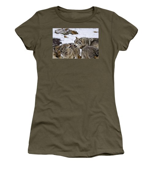 Women's T-Shirt (Junior Cut) featuring the photograph Do I Have Your Attention Now by Michael Cummings