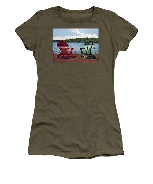 Dockside Women's T-Shirt (Junior Cut) by Kenneth M  Kirsch