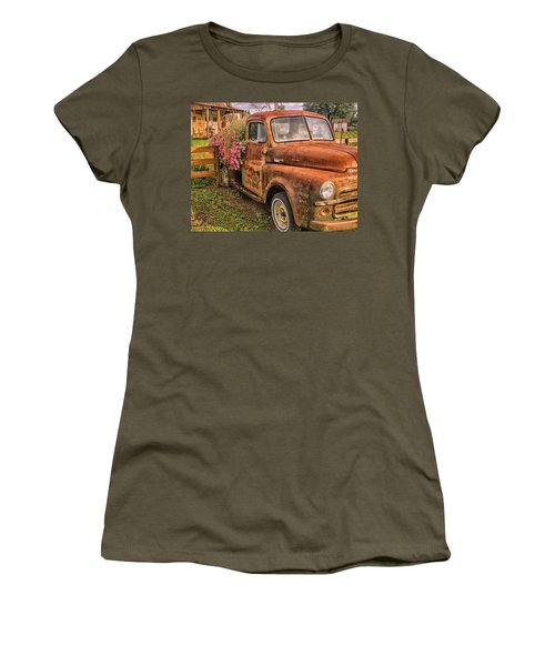 Dodge Flower Pot Women's T-Shirt (Athletic Fit)