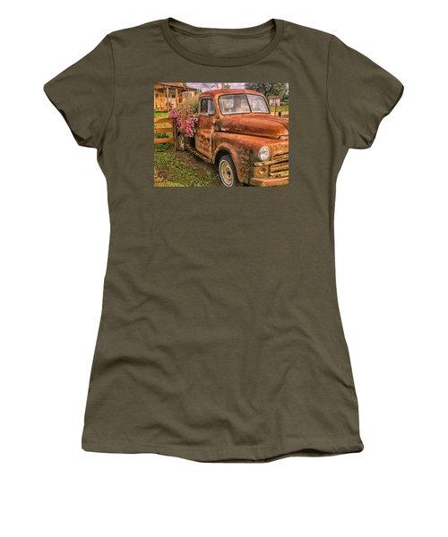 Dodge Flower Pot Women's T-Shirt (Athletic Fit)