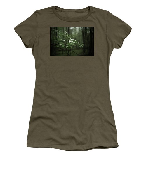 Women's T-Shirt (Junior Cut) featuring the photograph Dogwood Branch by Shane Holsclaw