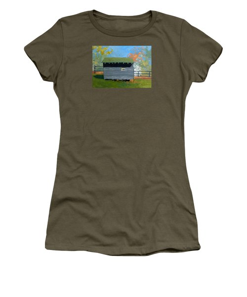 Dogwood Farm Shed Women's T-Shirt (Junior Cut) by Catherine Twomey