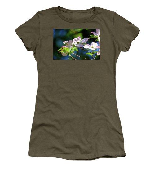 Dogwood Flowers Women's T-Shirt (Junior Cut) by Ronda Ryan