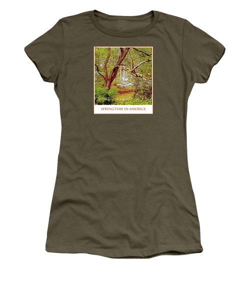 Women's T-Shirt (Junior Cut) featuring the photograph Dogwood Tree In Spring by A Gurmankin