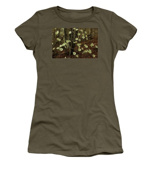Women's T-Shirt (Junior Cut) featuring the photograph Dogwoods In The Spring by Mike Eingle