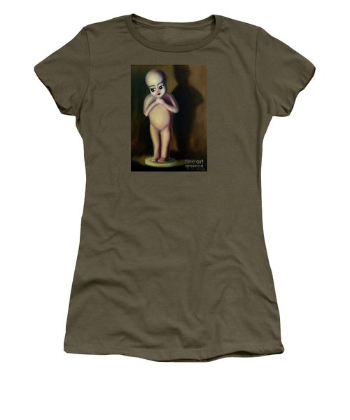 Women's T-Shirt (Junior Cut) featuring the painting Dollie by Randol Burns