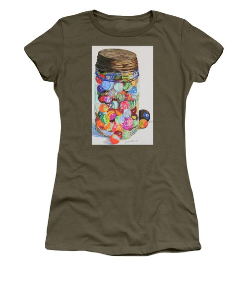 Don't Lose Your Marbles Women's T-Shirt (Athletic Fit)