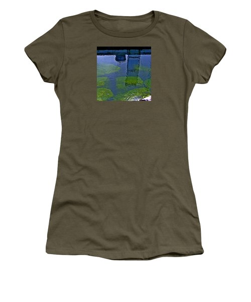 Women's T-Shirt (Athletic Fit) featuring the photograph Door County Reflections by Perry Andropolis