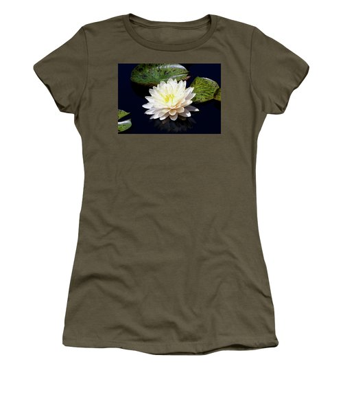 Dotty White Lotus And Lily Pads 0030 Dlw_h_2 Women's T-Shirt