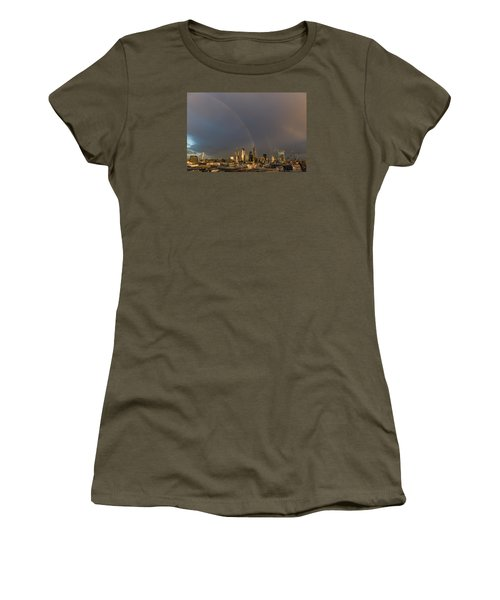 Double Rainbow Over The City Of London Women's T-Shirt