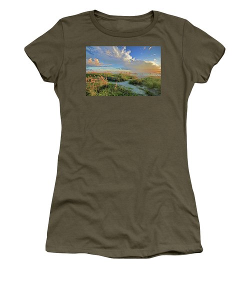 Down To The Beach 2 - Florida Beaches Women's T-Shirt (Athletic Fit)