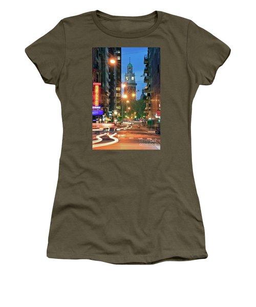 Women's T-Shirt (Junior Cut) featuring the photograph Downtown by Bernardo Galmarini