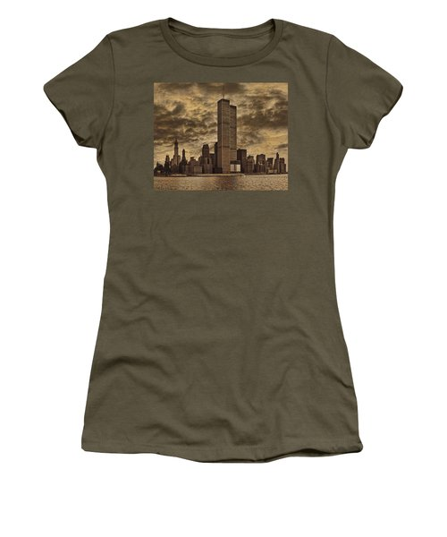 Downtown Manhattan Circa Nineteen Seventy Nine  Women's T-Shirt (Athletic Fit)