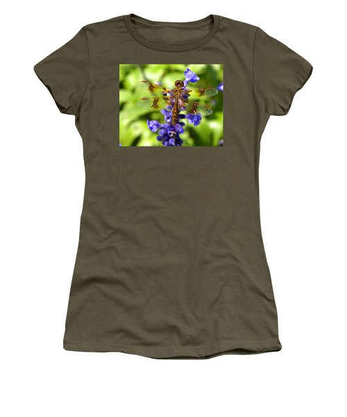 Women's T-Shirt (Junior Cut) featuring the photograph Dragonfly by Sandi OReilly