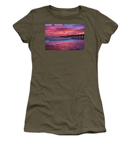 Dramatic Sunrise Over Juno Beach Pier, Florida Women's T-Shirt