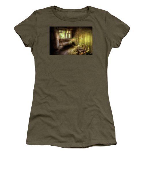 Women's T-Shirt (Junior Cut) featuring the digital art Dream Bathtime by Nathan Wright