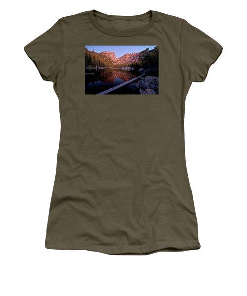 Women's T-Shirt (Athletic Fit) featuring the photograph Dream Lake by Gary Lengyel