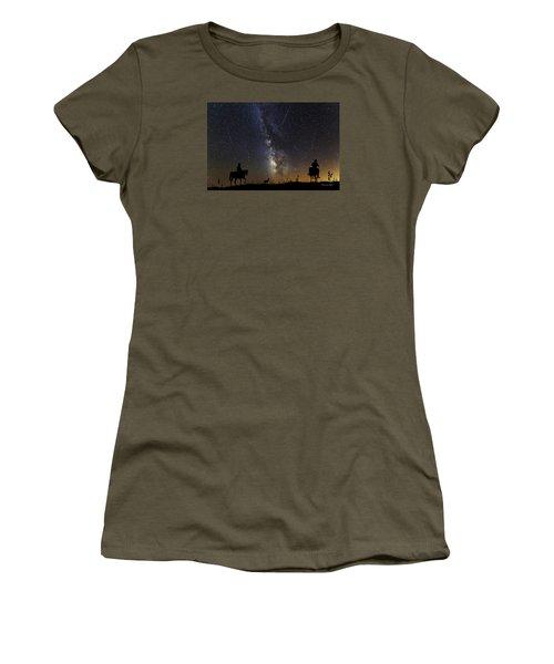 Women's T-Shirt (Junior Cut) featuring the photograph Dream Ride At Magic Time by Karen Slagle