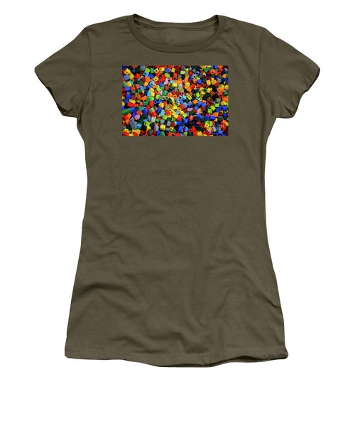 Dreaming In Legos  Women's T-Shirt (Athletic Fit)