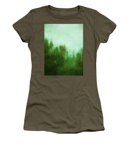 Women's T-Shirt (Junior Cut) featuring the digital art Dreamy Spring Forest by Klara Acel