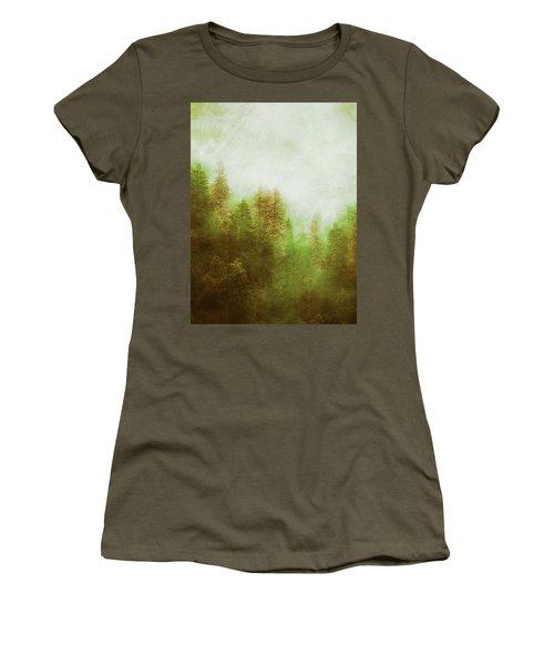 Women's T-Shirt (Junior Cut) featuring the digital art Dreamy Summer Forest by Klara Acel