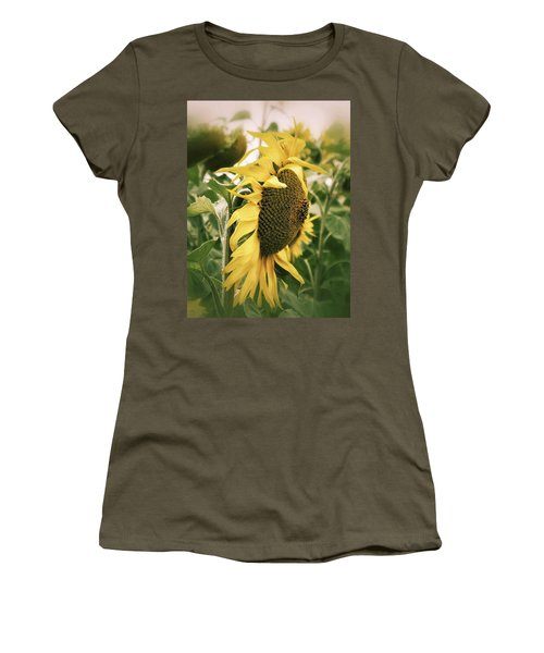 Dreamy Sunflower Women's T-Shirt (Athletic Fit)