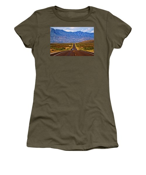 Driving To The Blue Women's T-Shirt (Athletic Fit)