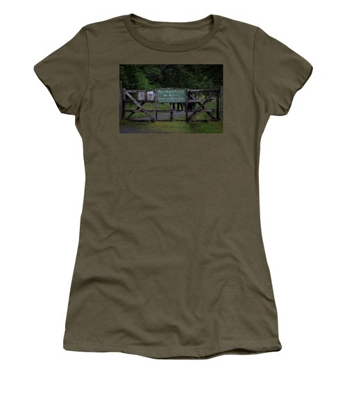 Women's T-Shirt (Athletic Fit) featuring the photograph Drove Road To Glen Coe by RKAB Works