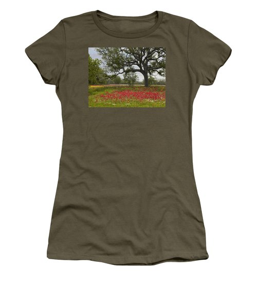 Drummonds Phlox Meadow Near Leming Texas Women's T-Shirt