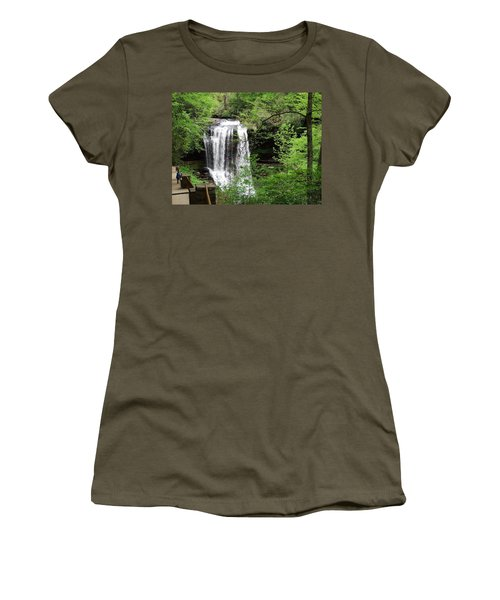 Dry Falls In The Spring Women's T-Shirt (Junior Cut) by Cathy Harper