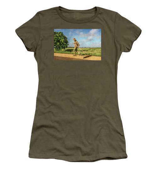 Drying Rice Women's T-Shirt
