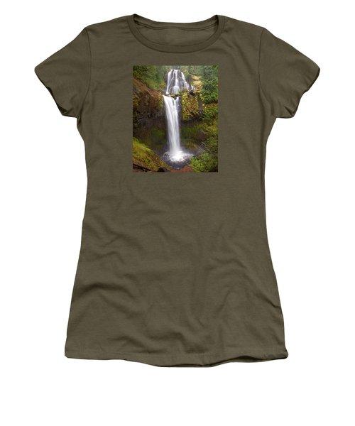 Dual Cascade Women's T-Shirt (Junior Cut) by Todd Kreuter