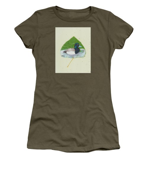 Duck On Pond #2 Women's T-Shirt (Junior Cut) by Ralph Root