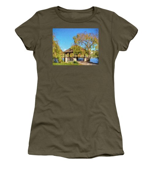 Duck Pond Gazebo At Virginia Tech Women's T-Shirt (Athletic Fit)