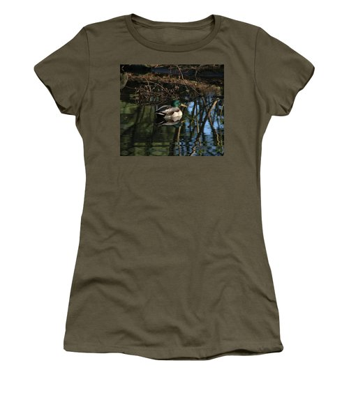 Duck Resting Women's T-Shirt (Athletic Fit)