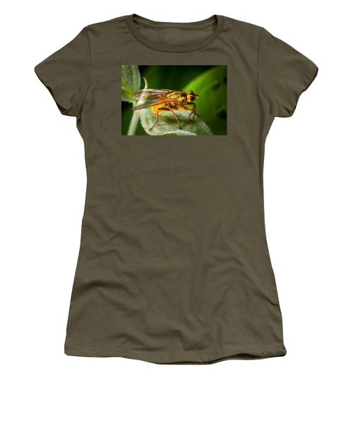 Dung Fly On Leaf Women's T-Shirt