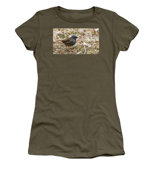 Women's T-Shirt (Junior Cut) featuring the photograph Dunnock by Torbjorn Swenelius
