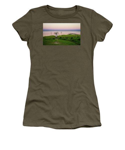 Dusk At Battle Point, Accomac, Virginia Women's T-Shirt