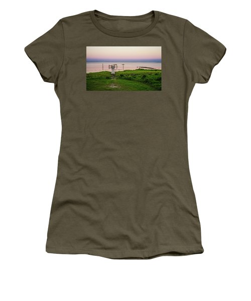 Dusk At Battle Point, Accomac, Virginia Women's T-Shirt